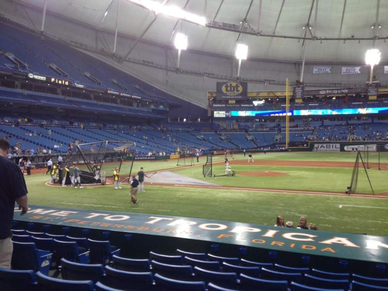 Seating view for Tropicana Field Section 116 Row S Seat 6