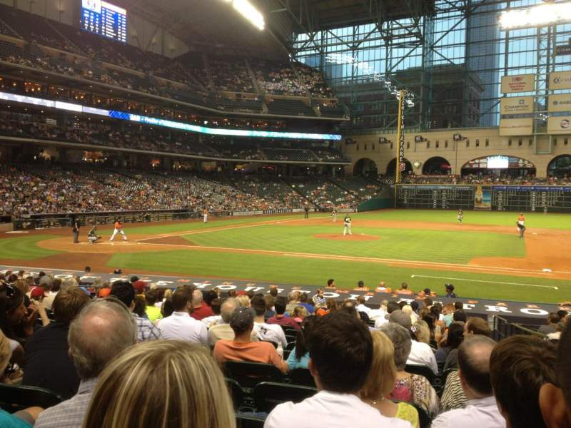 Seating view for Minute Maid Park Section 125 Row 21 Seat 16