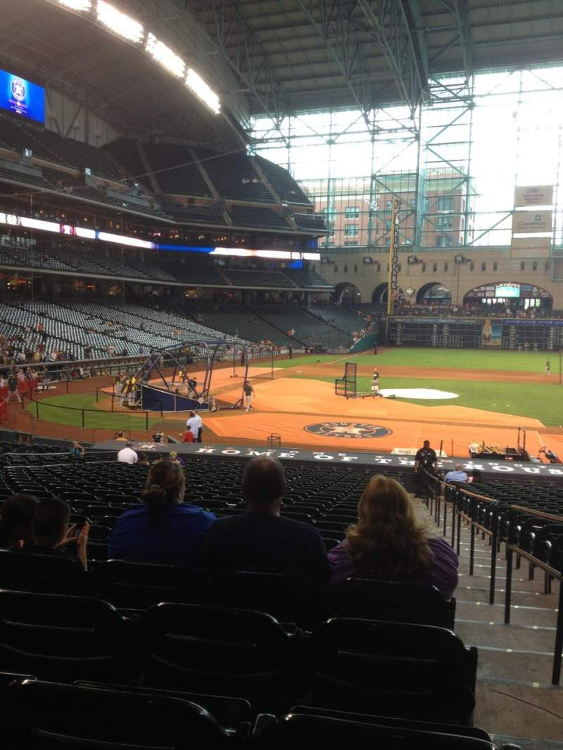 Seating view for Minute Maid Park Section 124 Row 31 Seat 16