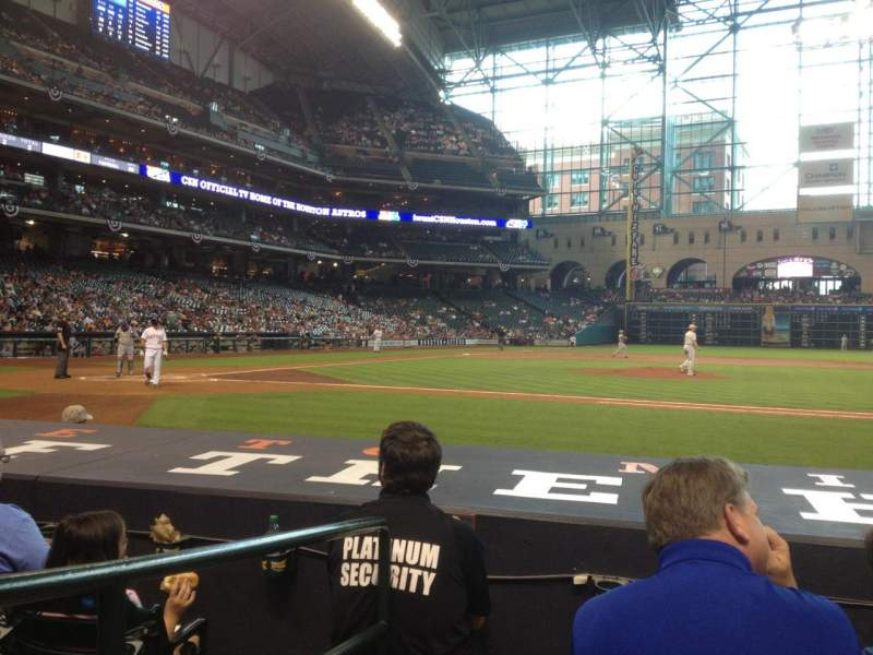 Seating view for Minute Maid Park Section 125 Row 8 Seat 1
