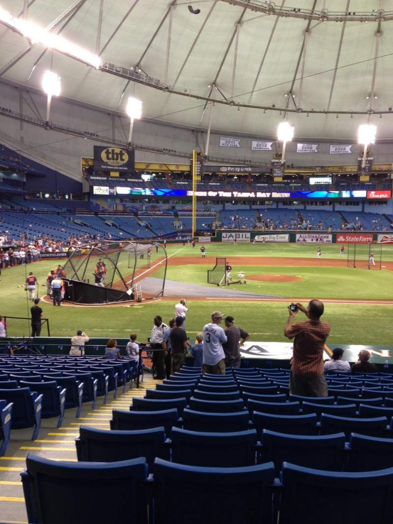 Seating view for Tropicana Field Section 112 Row Y Seat 2