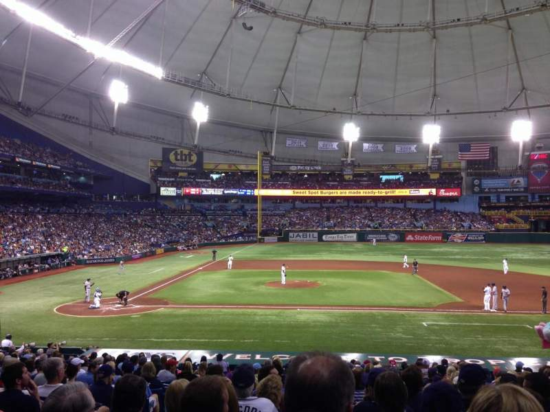 Seating view for Tropicana Field Section 114 Row EE Seat 3
