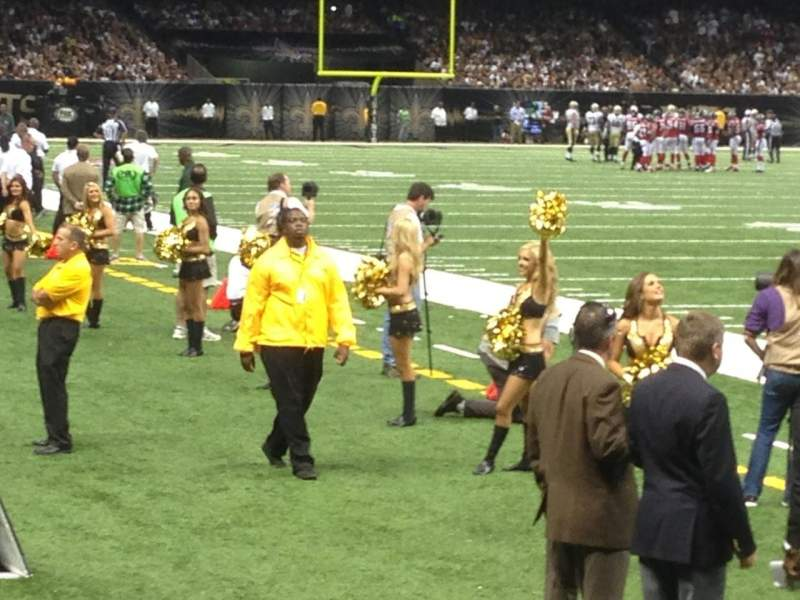 Seating view for Mercedes-Benz Superdome Section 104 Row 2 Seat 20