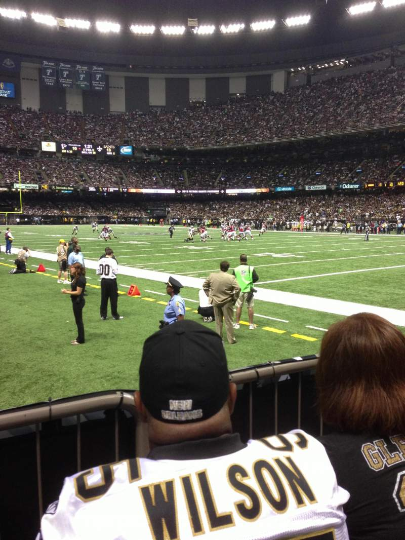 Mercedes benz superdome section 104 row 2 seat 20 home for Hotels near the mercedes benz superdome
