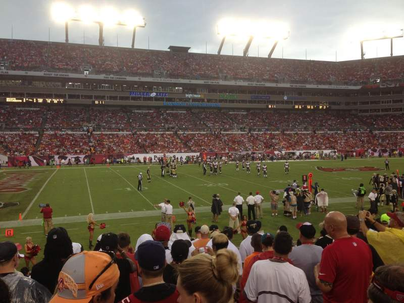 Seating view for Raymond James Stadium Section 132 Row n Seat 19