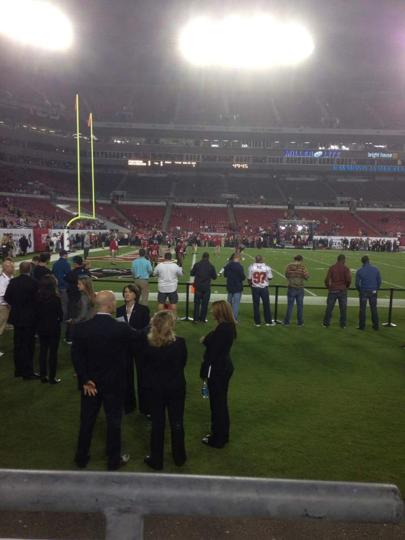 Seating view for Raymond James Stadium Section 132 Row A Seat 12