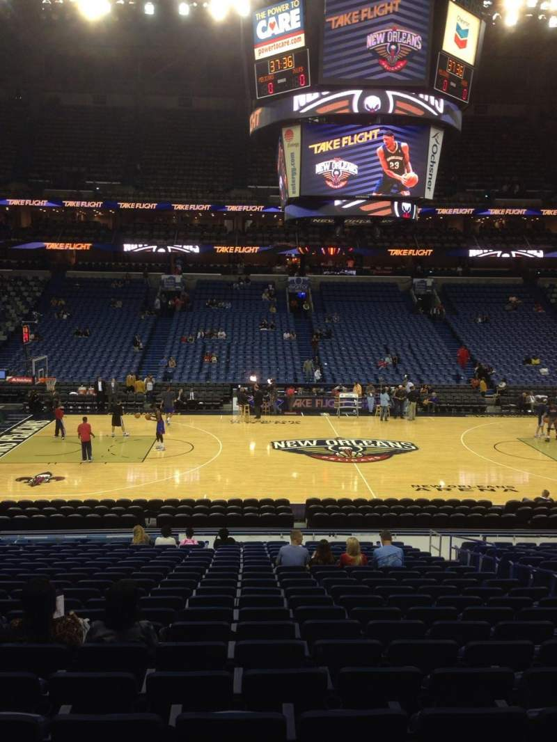 Seating view for Smoothie King Center Section 101 Row 23 Seat 7