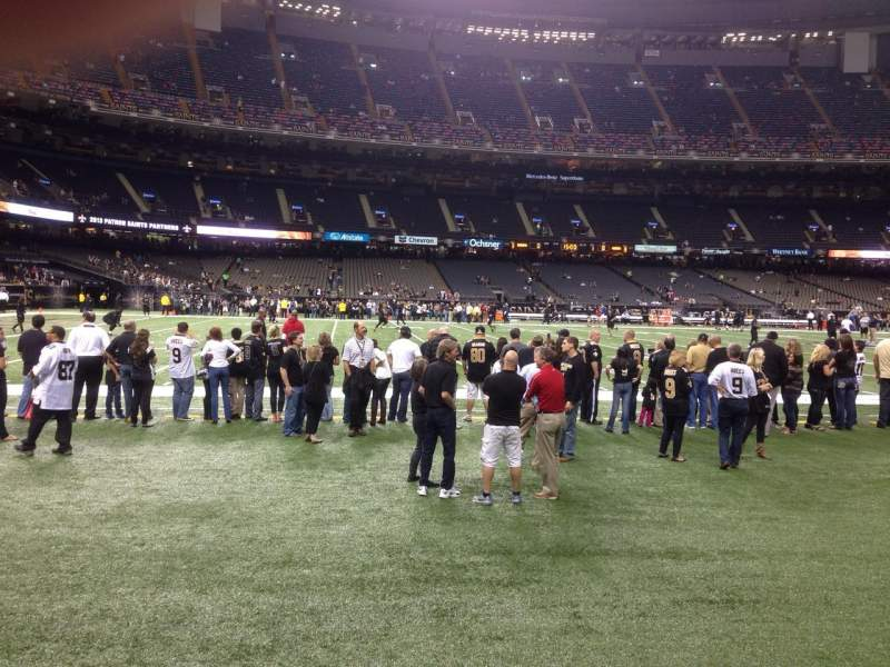 Seating view for Mercedes-Benz Superdome Section 116 Row 1 Seat 23