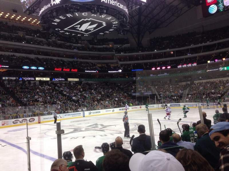 Seating view for American Airlines Center Section 120 Row F Seat 5