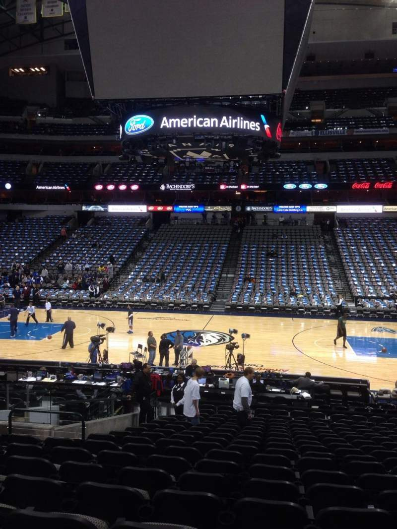 Seating view for American Airlines Center Section 118 Row T Seat 11