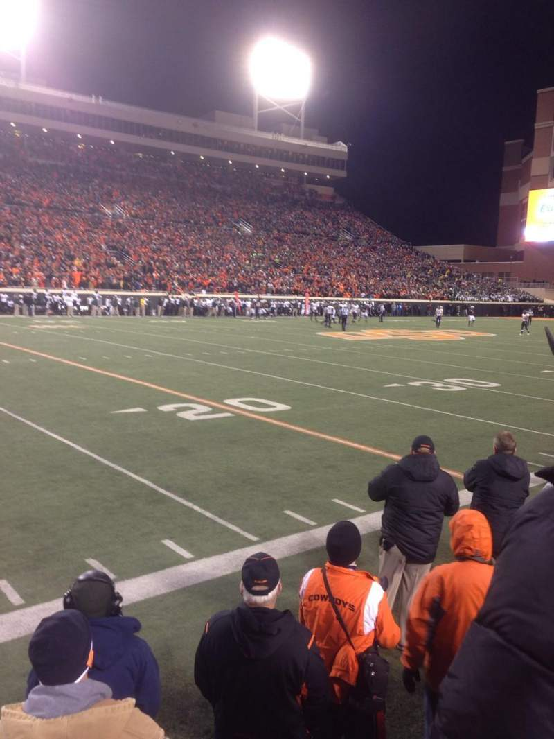Seating view for Boone Pickens Stadium Section 107 Row 2 Seat 28