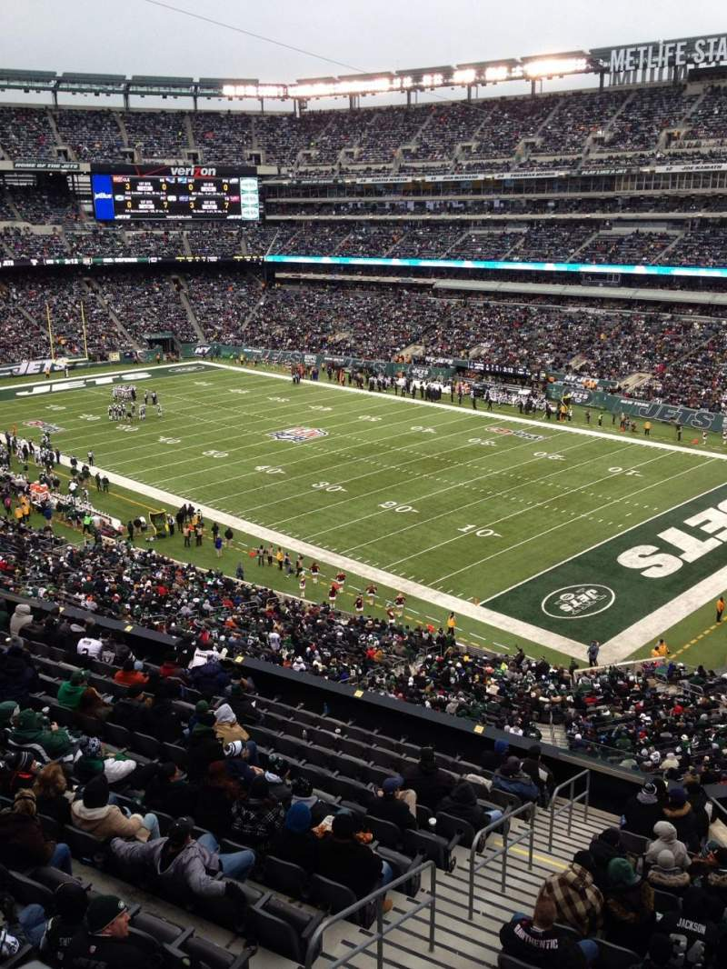 Seating view for MetLife Stadium Section 5 Row 03