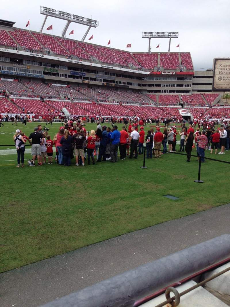 Seating view for Raymond James Stadium Section 132 Row A Seat 11