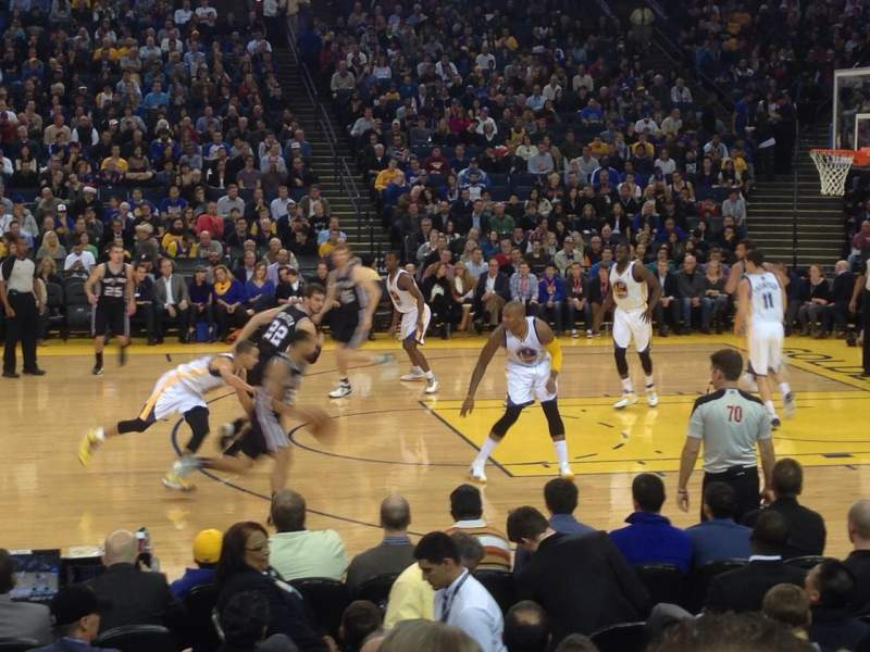 Seating view for Oracle Arena Section 128 Row 5 Seat 9