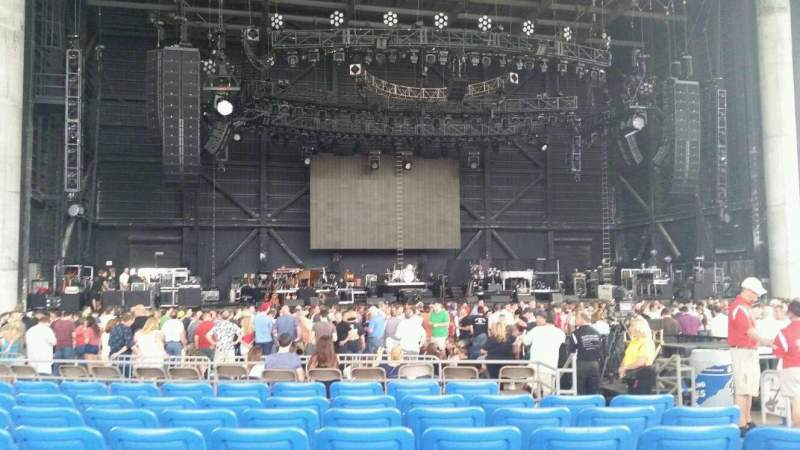 Seating view for MidFlorida Credit Union Amphitheatre Section 5 Row j Seat 21