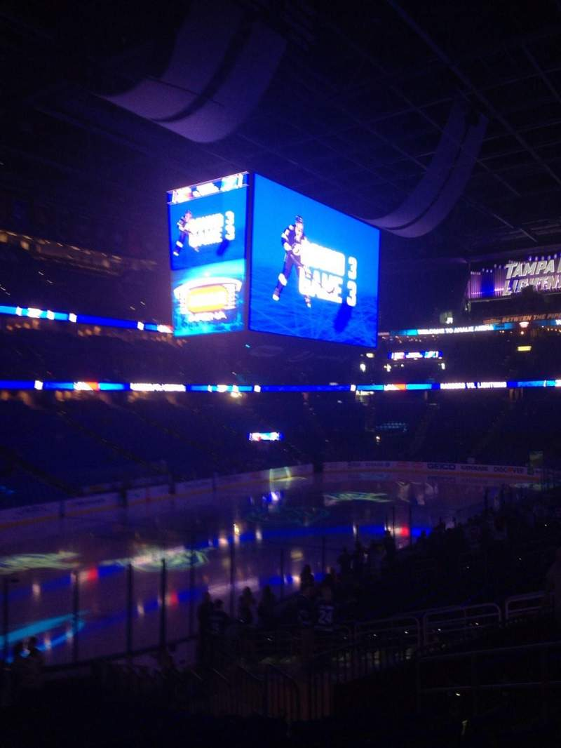 Seating view for Amalie Arena Section 104 Row X Seat 26