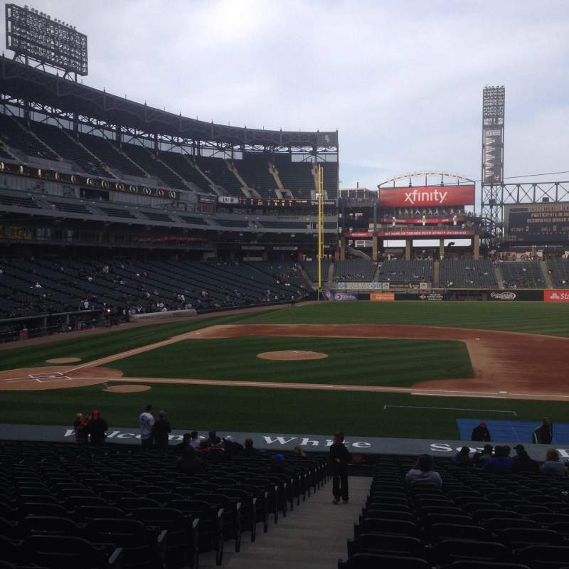 Seating view for Guaranteed Rate Field Section 124 Row 29 Seat 8