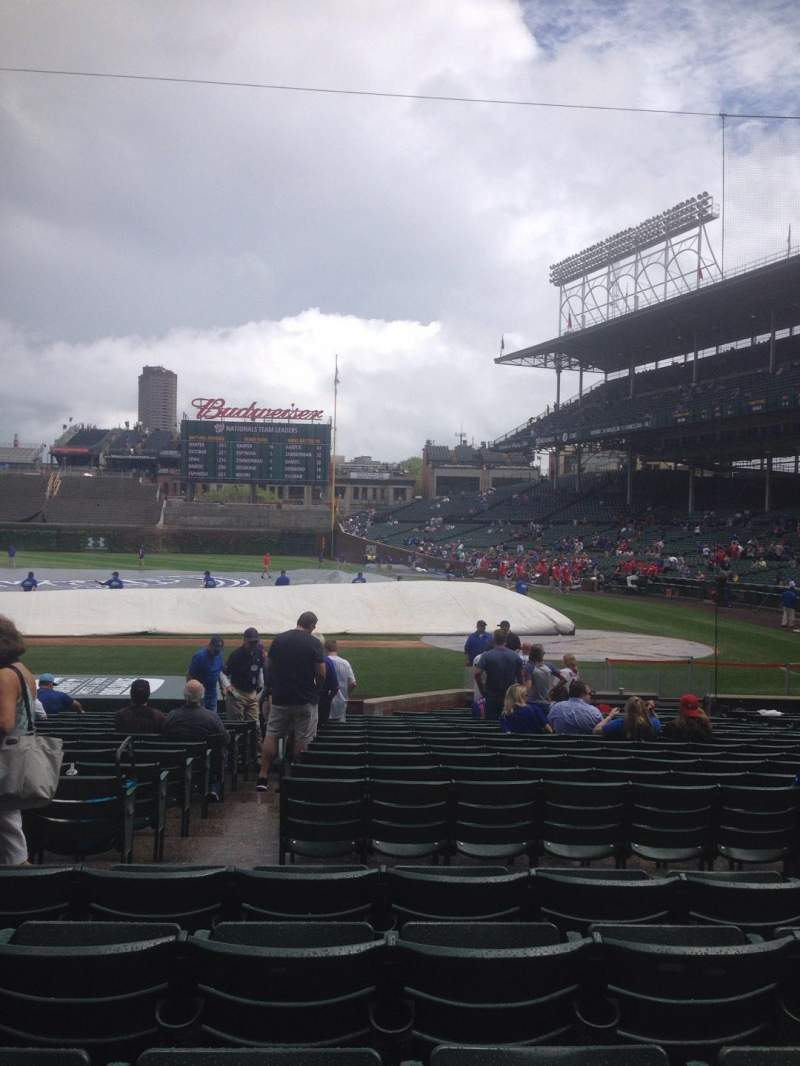 Seating view for Wrigley Field Section 115 Row 5 Seat 6