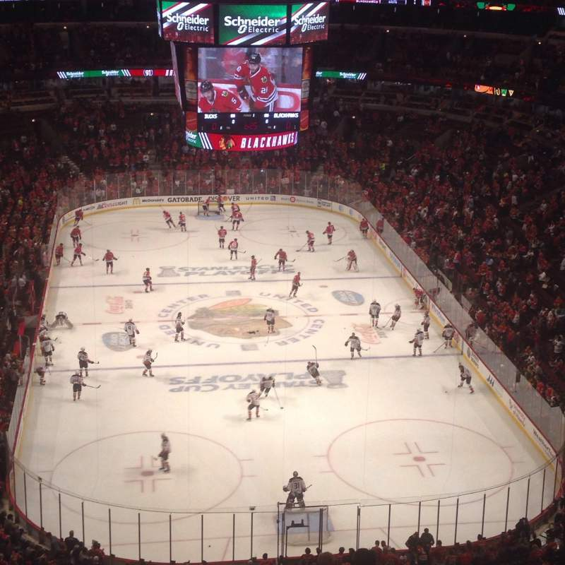 Seating view for United Center Section 327 Row 15 Seat 5