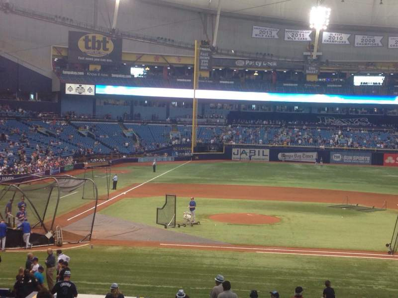 Seating view for Tropicana Field Section 114 Row Hh Seat 1