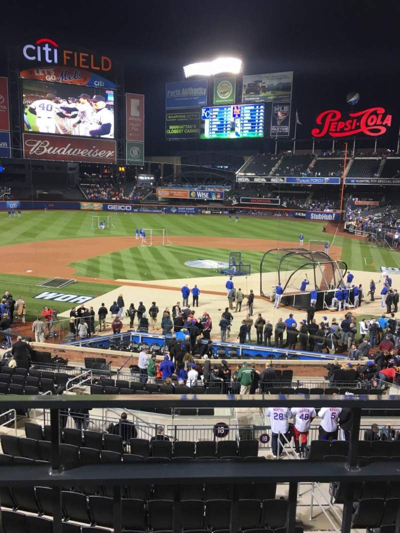 Seating view for Citi Field Section 119 Row 1-wc Seat 5