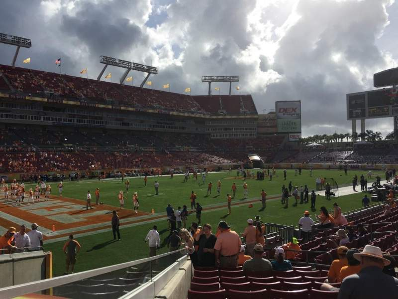 Seating view for Raymond James Stadium Section 103 Row R Seat 5