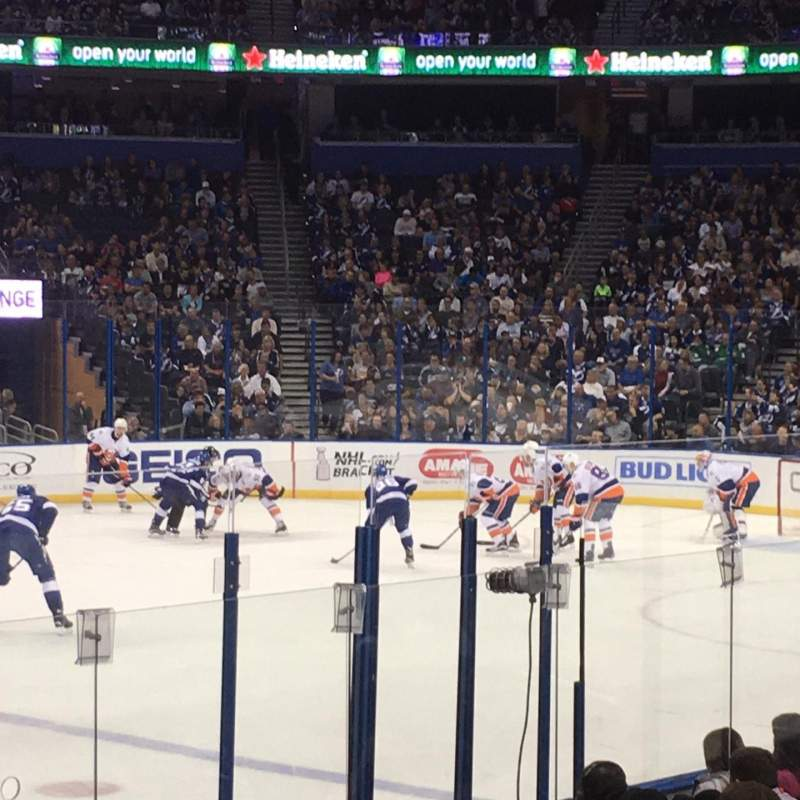 Seating view for Amalie Arena Section 117 Row K Seat 3
