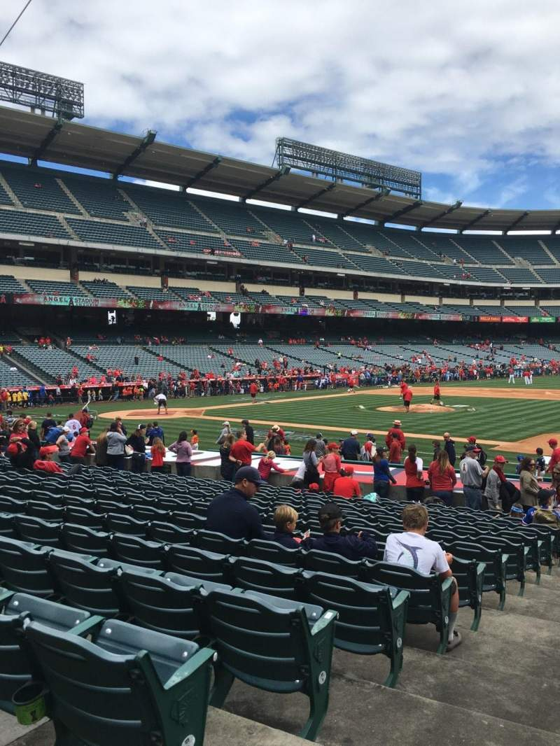 Seating view for Angel Stadium Section F126 Row S Seat 1
