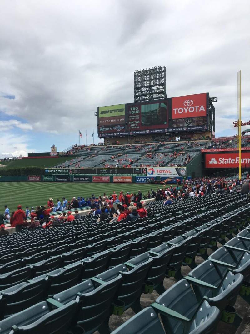 Seating view for Angel Stadium Section 126 Row S Seat 1