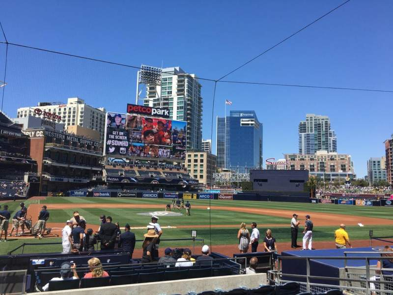 Seating view for PETCO Park Section 105 Row 14 Seat 1