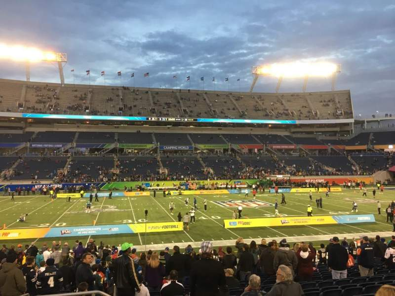 Seating view for Camping World Stadium Section 135 Row U Seat 26