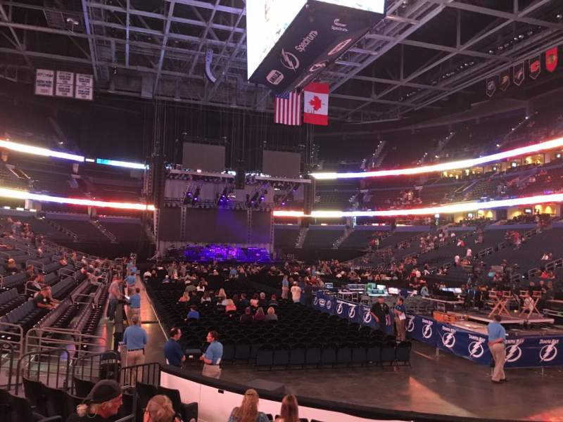 Amalie Arena, section: 110, row: J, seat: 11