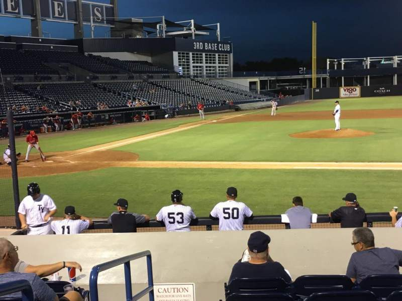Seating view for George M. Steinbrenner Field Section 106 Row Jj Seat 20