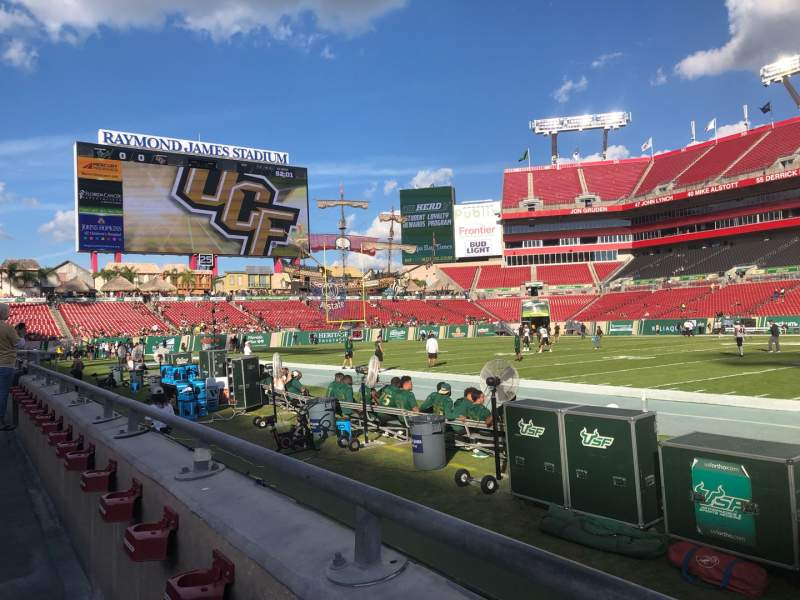Seating view for Raymond James Stadium Section 112 Row A Seat 20