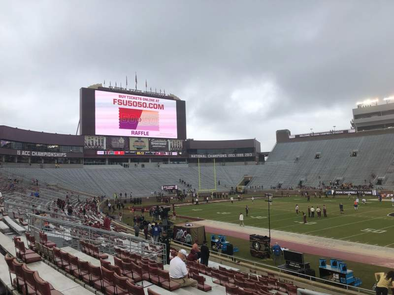 Seating view for Bobby Bowden Field at Doak Campbell Stadium Section 31 Row 23 Seat 27