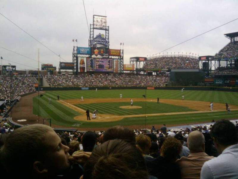 Seating view for Coors Field Section 128 Row 34 Seat 5