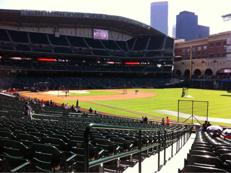 Seating view for Minute Maid Park Section 133 Row 35 Seat 1