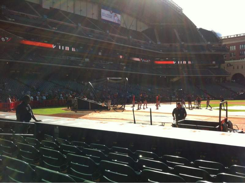 Seating view for Minute Maid Park Section 125 Row 10 Seat 10
