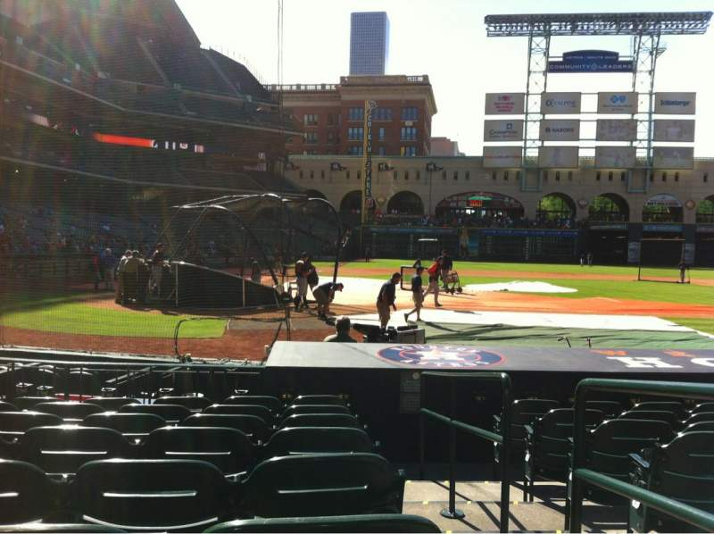 Seating view for Minute Maid Park Section 122 Row 12 Seat 16