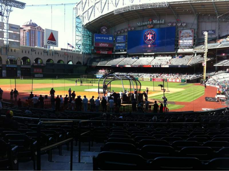 Seating view for Minute Maid Park Section 118 Row 23 Seat 15