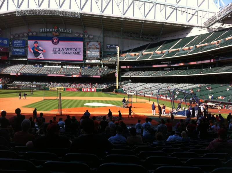 Seating view for Minute Maid Park Section 114 Row 24 Seat 7