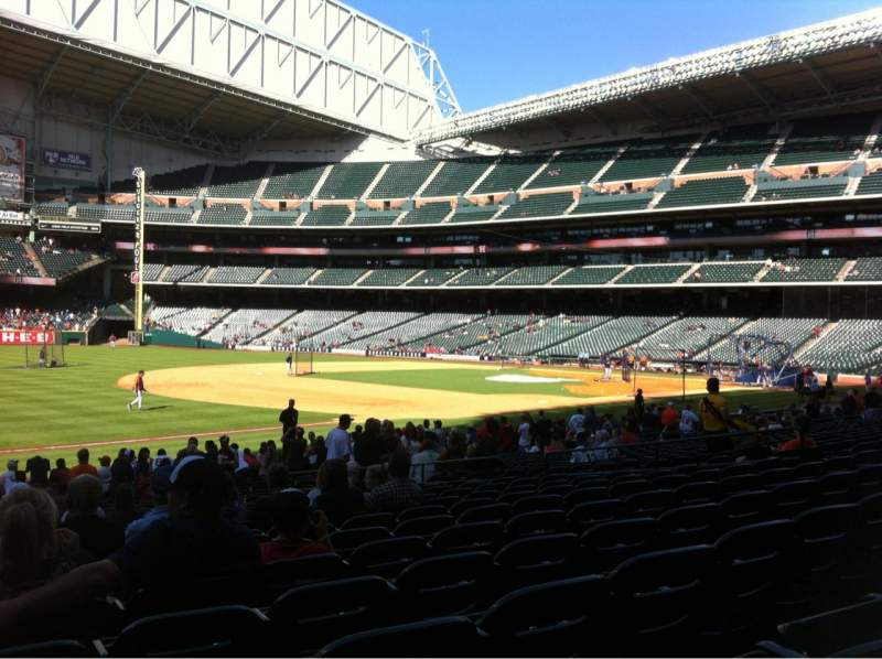 Seating view for Minute Maid Park Section 109 Row 23 Seat 5