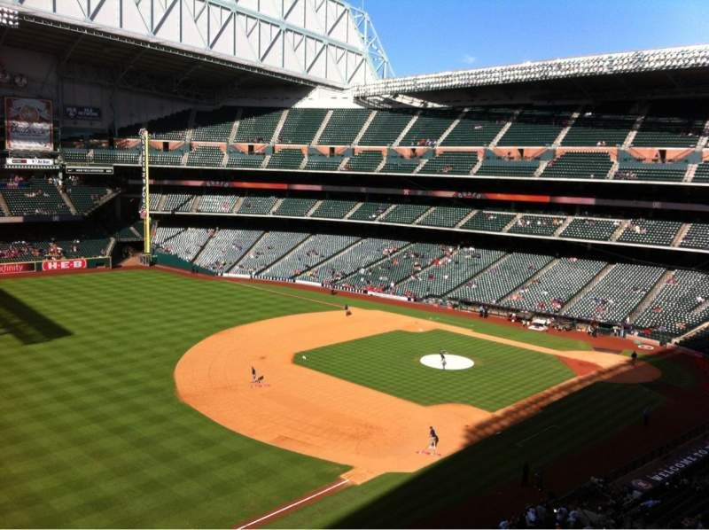 Seating view for Minute Maid Park Section 307 Row 1 Seat 14