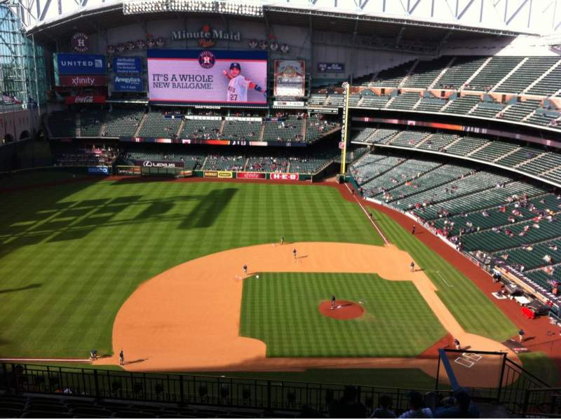Seating view for Minute Maid Park Section 413 Row 9 Seat 20