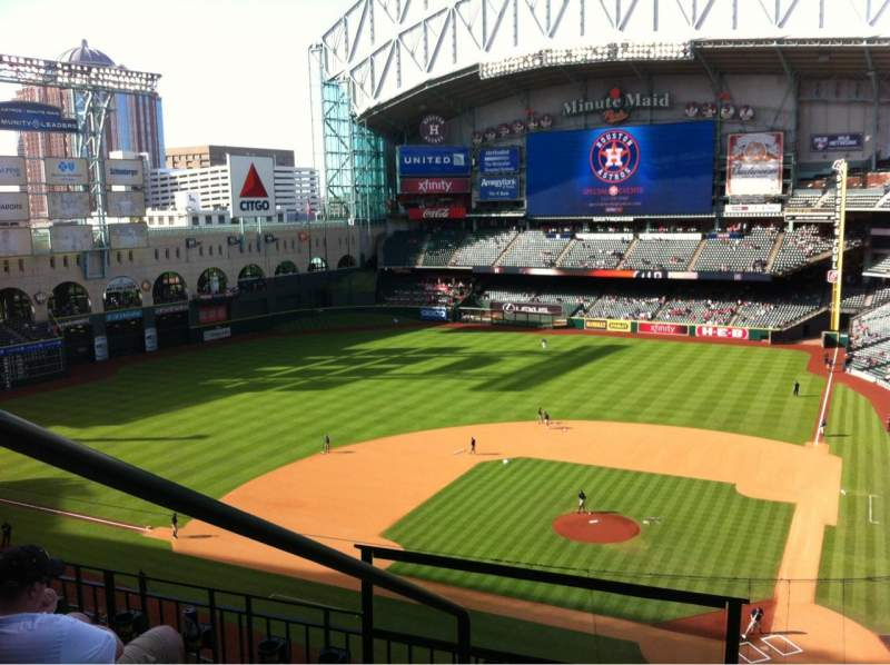 Seating view for Minute Maid Park Section 316 Row 4 Seat 1