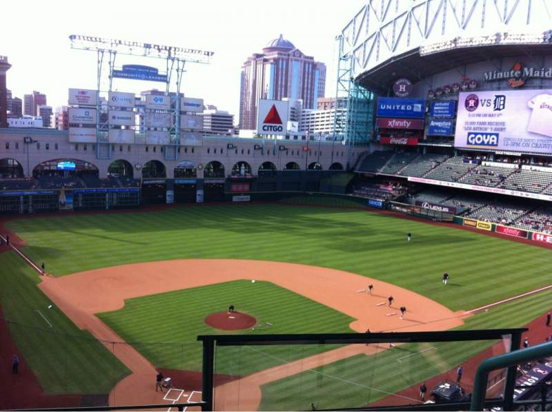 Seating view for Minute Maid Park Section 320 Row 3 Seat 16