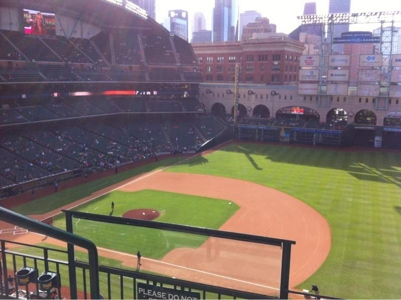 Seating view for Minute Maid Park Section 327 Row 3 Seat 1