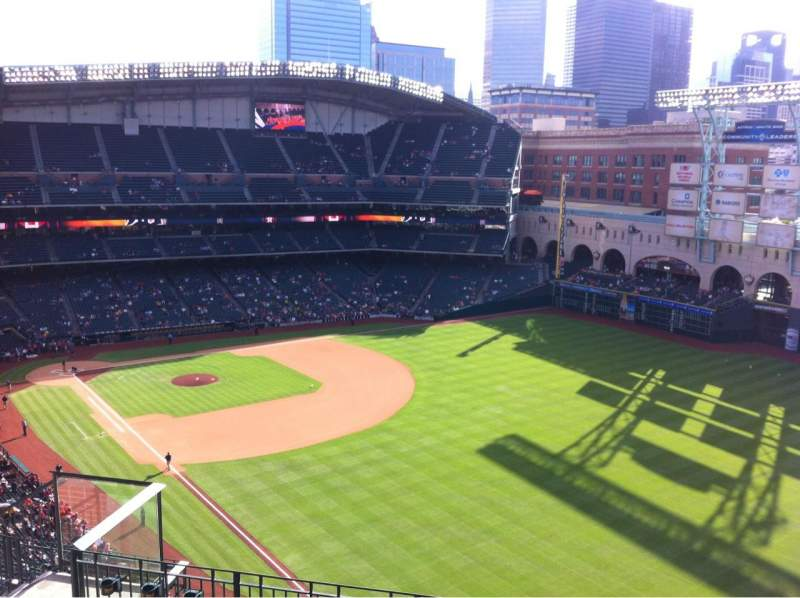 Seating view for Minute Maid Park Section 433 Row 6 Seat 8