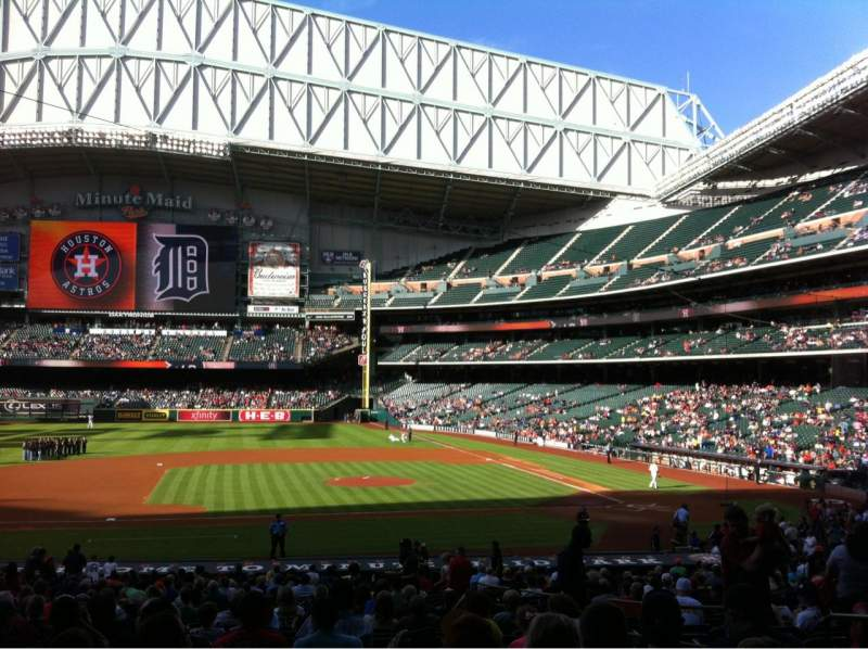 Seating view for Minute Maid Park Section 113 Row 35 Seat 12