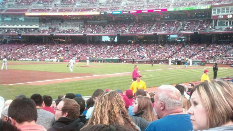 Seating view for Great American Ball Park Section 113 Row J Seat 13